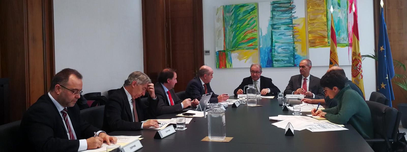Reunión con el consejero de Hacienda y Administración Pública del Gobierno de Aragón, Fernando Gimeno