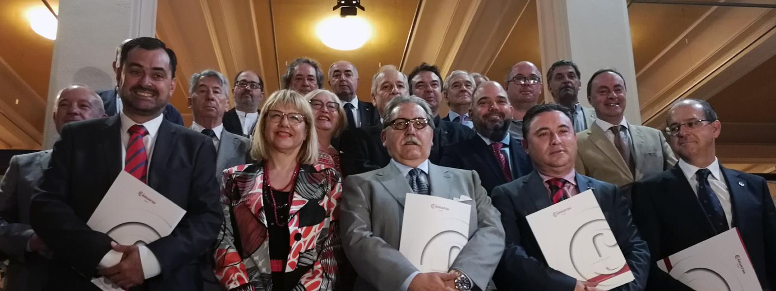 FIRMA DEL 'MANIFIESTO SOBRE LAS INFRAESTRUCTURAS NECESARIAS EN ARAGÓN Y EL VALLE DEL EBRO PARA EL TRANSPORTE FERROVIARIO DE MERCANCÍAS'