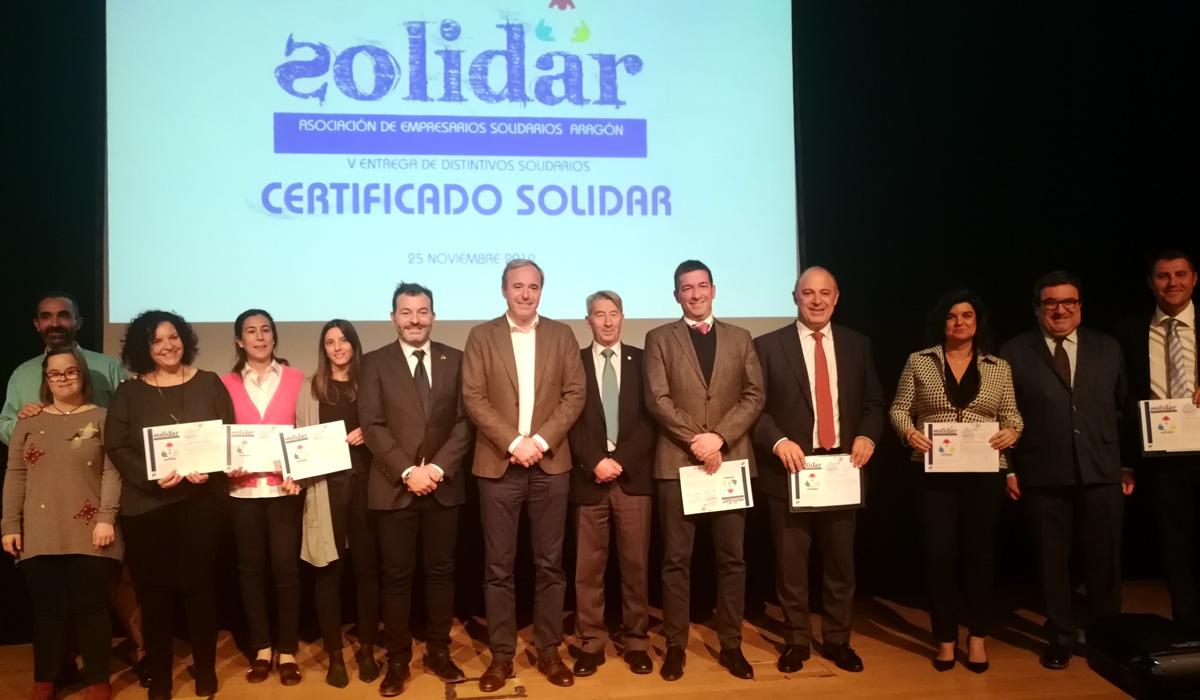 Gala de entrega Certificados Solidar